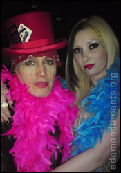 Adam Ant with Hayley Thompson