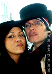 Adam Ant with Annabella Lwin