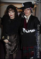 Adam Ant with Joan Collins