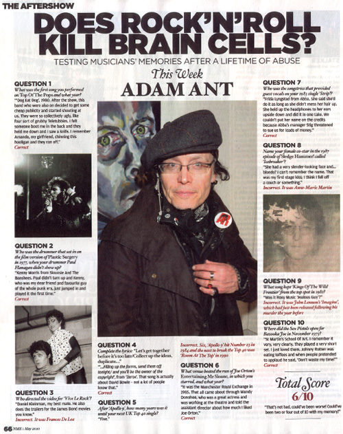 NME - Adam & the Ants