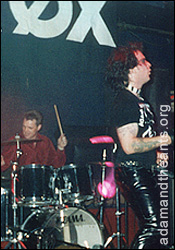 Terry Lee Miall - with Zerox at the Adam & the Ants convention 1998